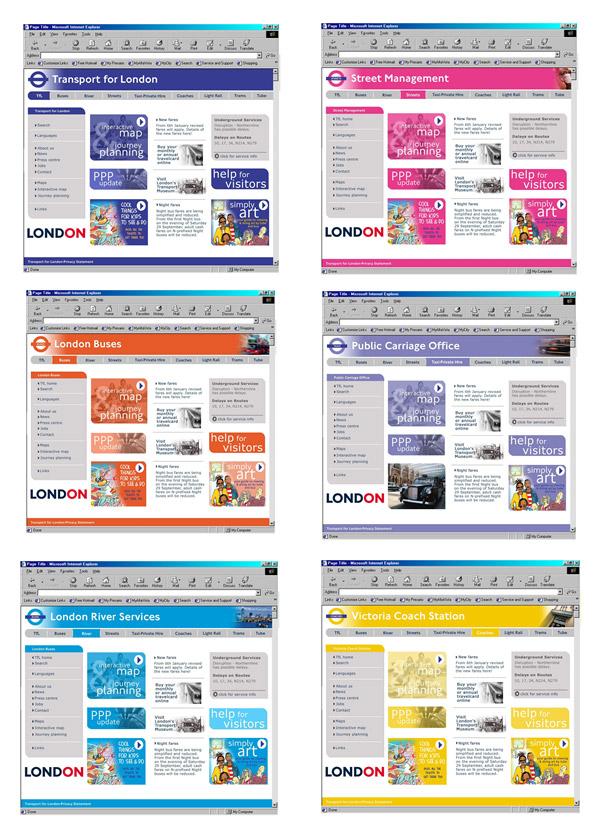TfL, Web Design,