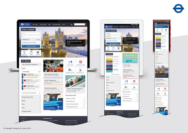 Tfl, Website, Design