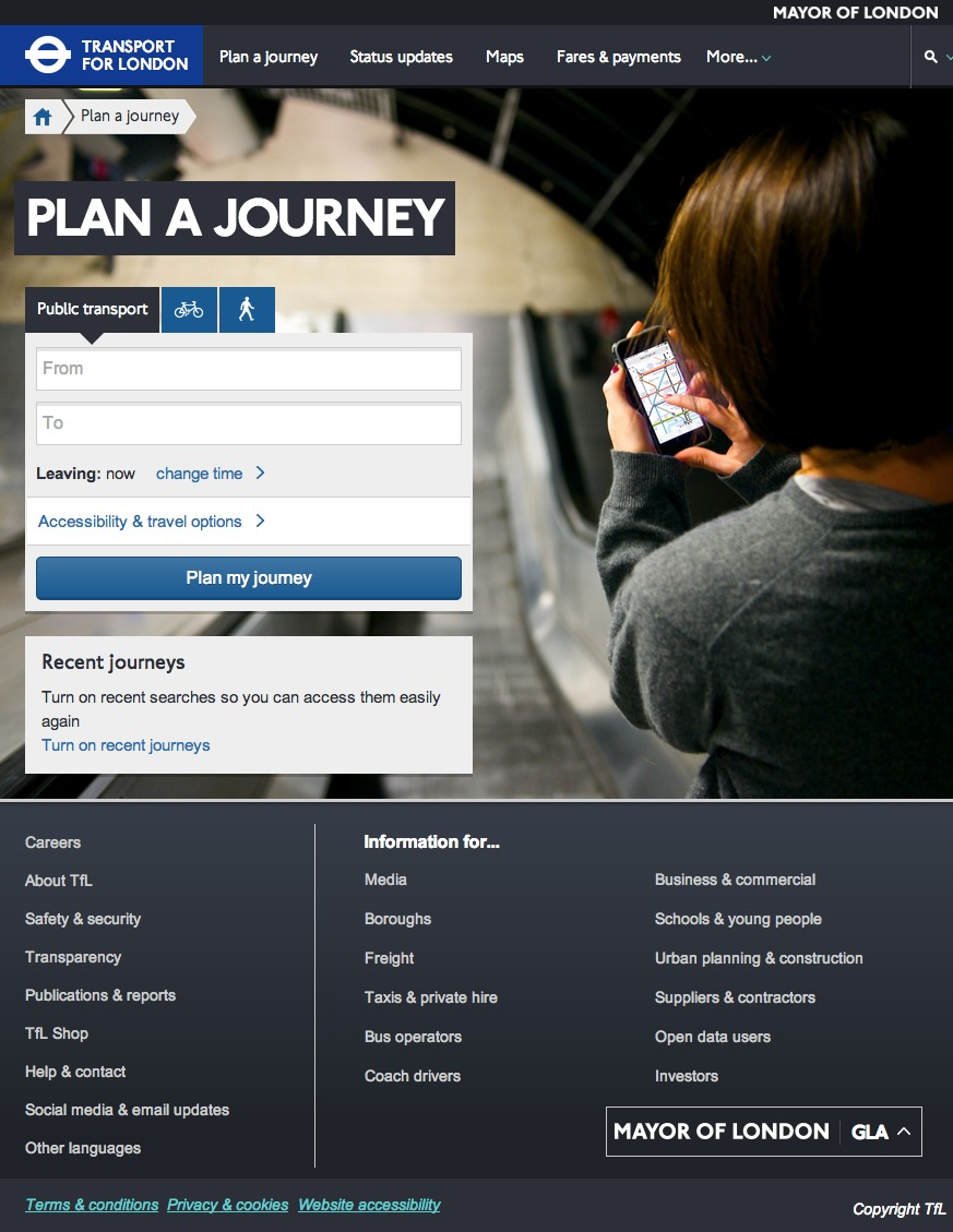 Tfl, New Website, Journey Planner
