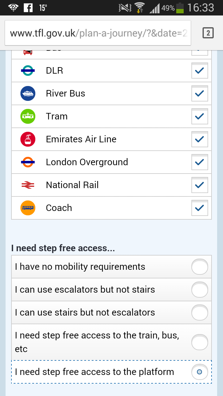 Journey Planner Accessibility